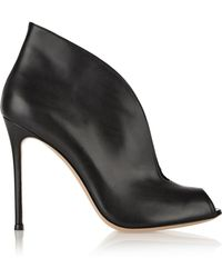 Gianvito Rossi - Vamp 105 Leather Ankle Boots - Lyst