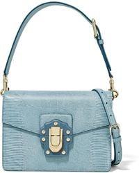 Dolce & Gabbana - Lucia Lizard-effect Leather Shoulder Bag - Lyst