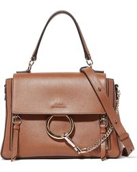 Chloé - Faye Day Large Textured-leather Shoulder Bag - Lyst