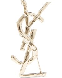 Saint Laurent - Gold-tone Brooch - Lyst