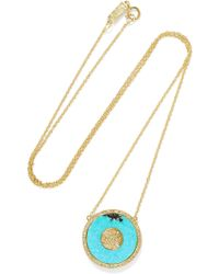 Jennifer Meyer - Evil Eye 18-karat Gold, Turquoise And Diamond Necklace - Lyst