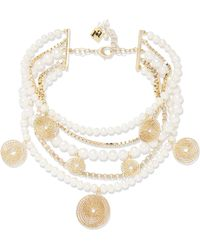 Rosantica - Armonia Freshwater Pearl Gold-tone Necklace - Lyst