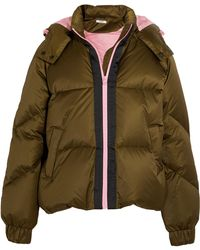 Ganni - Hooded Quilted Shell Down Jacket - Lyst