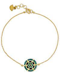 Amrapali - 18-karat Gold And Enamel Bracelet - Lyst