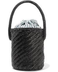 Loeffler Randall - Cleo Woven Leather Bucket Bag - Lyst