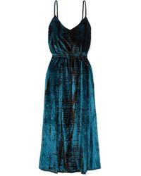 Mes Demoiselles - Suzie Tie-dyed Crushed-velvet Midi Dress - Lyst