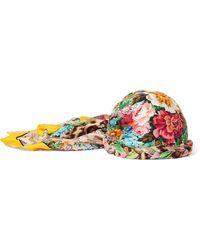 Gucci - Embellished Printed Silk-twill Headwrap - Lyst