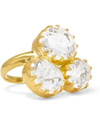 Pippa Small - 18-karat Gold Crystal Ring - Lyst