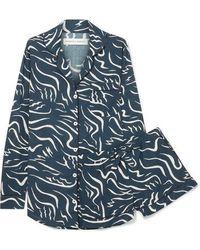 Desmond & Dempsey - Bird Printed Cotton-voile Pyjama Set - Lyst