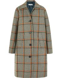 Rejina Pyo - Cary Houndstooth Wool-blend Coat - Lyst