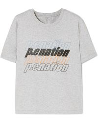 5d92056b91a6 P.E Nation - Three Run Rubber-trimmed Cotton-jersey T-shirt - Lyst