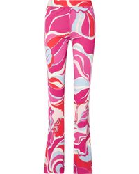 Emilio Pucci - Printed Straight-leg Trousers - Lyst