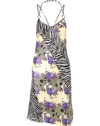 Opening Ceremony - Embellished Printed Silk-charmeuse Dress - Lyst