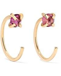 Melissa Joy Manning - 14-karat Gold Rhodolite Garnet Earrings - Lyst