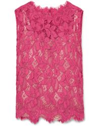 Dolce & Gabbana - Corded Lace Top - Lyst
