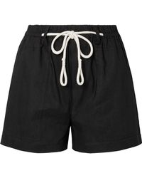 Vince - Rope-trimmed Linen-blend Shorts - Lyst