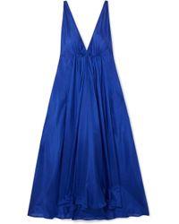 Kalita - Clemence Gathered Silk-habotai Maxi Dress - Lyst