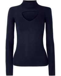 Cutout Gravity Ribbed Lyst Sweater Wool Temperley London Merino O7wqZ