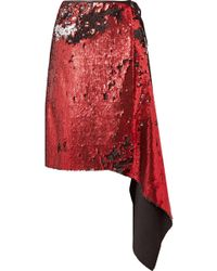 Marques'Almeida - Asymmetric Sequinned Tulle Wrap Skirt - Lyst