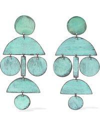 Annie Costello Brown - Pom Pom Oxidized Earrings - Lyst