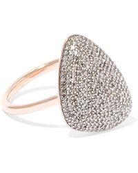 Monica Vinader - Nura Rose Gold Vermeil Diamond Ring - Lyst