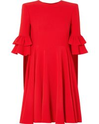 Alexander McQueen - Ruffle-trimmed Crepe Mini Dress - Lyst