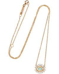 d30f1f0cd6 Suzanne Kalan 18-karat White Gold Diamond Necklace in Metallic - Lyst