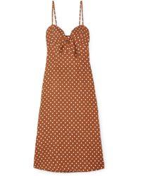 Faithfull The Brand - Fiscardo Polka-dot Linen Midi Dress - Lyst