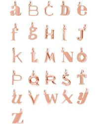 Monica Vinader - A-z Alphabet Letter Rose Gold Vermeil Pendants Rose Gold G - Lyst