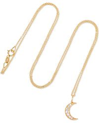 Andrea Fohrman - Crescent Moon 18-karat Gold Diamond Necklace - Lyst