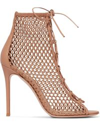 Gianvito Rossi - 105mm Mesh Lace Up Boots - Lyst
