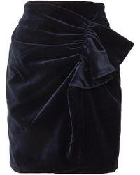 Silvia Tcherassi - Willow Gathered Cotton-blend Velvet Mini Skirt - Lyst