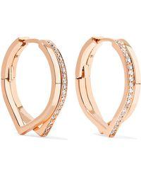 Repossi - Antifer 18-karat Rose Gold Diamond Earrings - Lyst