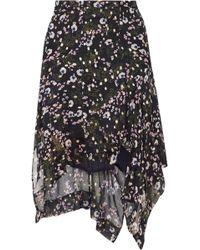 Isabel Marant - Myles Floral-print Fil Coupé Silk-blend Georgette Skirt - Lyst