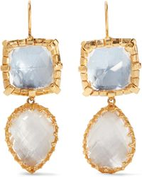 Larkspur & Hawk | Sadie Gold-dipped Quartz Earrings | Lyst