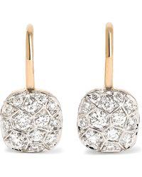 Pomellato - Nudo 18-karat Rose And White Gold Diamond Earrings - Lyst