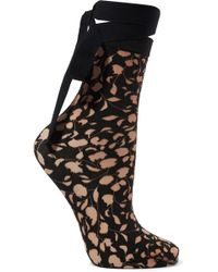 Wolford - Amelia Tie-detailed Devoré Socks - Lyst