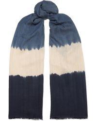 Melt - Tara Tie-dyed Cashmere And Silk-blend Scarf - Lyst