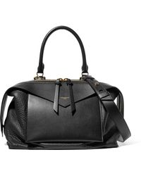 Givenchy - Sway Medium Smooth And Textured-leather Tote - Lyst