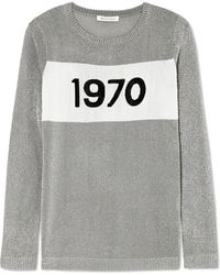 Bella Freud - Sparkle 1970 Metallic Knitted Jumper - Lyst