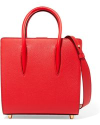 Christian Louboutin - Paloma Small Studded Textured-leather Tote - Lyst
