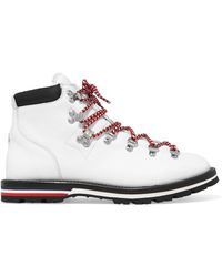 Moncler - Blanche Shearling-lined Leather Ankle Boots - Lyst