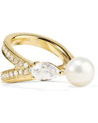 Anissa Kermiche - Perle Rare 14-karat Gold Multi-stone Ear Cuff Gold One Size - Lyst