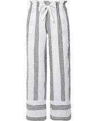 lemlem - Xena Striped Cotton-blend Gauze Straight-leg Pants - Lyst