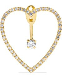 Yvonne Léon - 18-karat Gold Diamond Earring Gold One Size - Lyst
