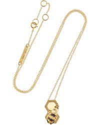Delfina Delettrez - 9-karat Gold Multi-stone Necklace - Lyst