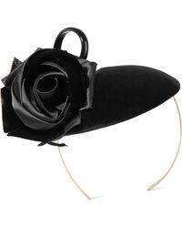 Philip Treacy - Rosette And Bow-embellished Velvet Headpiece - Lyst