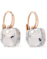 Pomellato - Nudo Classic 18-karat Rose Gold Topaz Earrings - Lyst