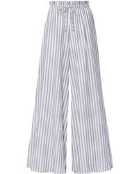 Pietrone Striped Stretch-cotton Wide-leg Pants - Ivory Silvia Tcherassi For Sale Footlocker DnVorY