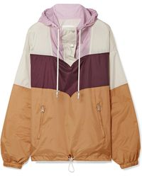 Étoile Isabel Marant - Cyriel Color-block Shell Hooded Top - Lyst